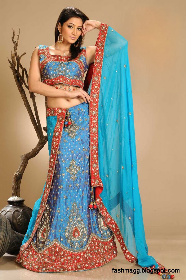 Indian Bridal-Wedding Lehenga for Brides Wear-Embroidered Beautiful ...
