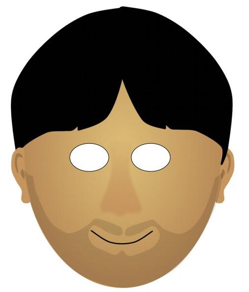 Kağıttan Erkek Yüz Maskesi