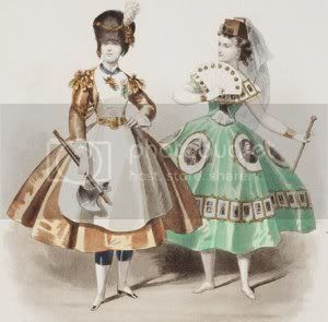 Fancy dress costumes from La Mode Parisiennes, 1866