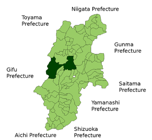 Location Map of Matsumoto in Nagano Prefecture...