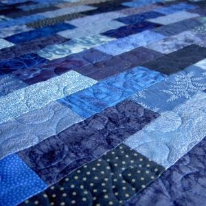 all blue quilt by twinsgmom