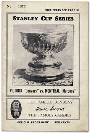 1925 Stanley Cup program