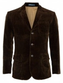 Polo Ralph Lauren Chocolate Washed Corduroy Patch Pocket Blazer