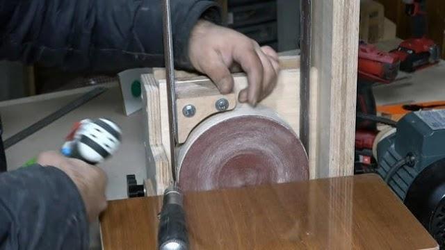 Комбинированный ленточно-дисковый шлифовальный станок