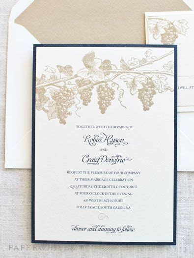 Our winery themed wedding invitation is a wonderful choice