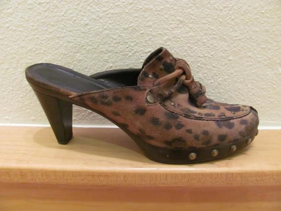 Vintage Stuart Weitzman Leopard Clogs 7 1/2 N