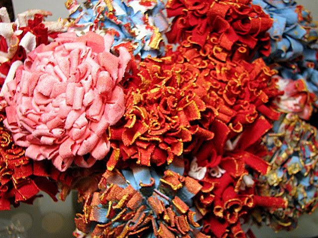 recycled Tshirts - flowers