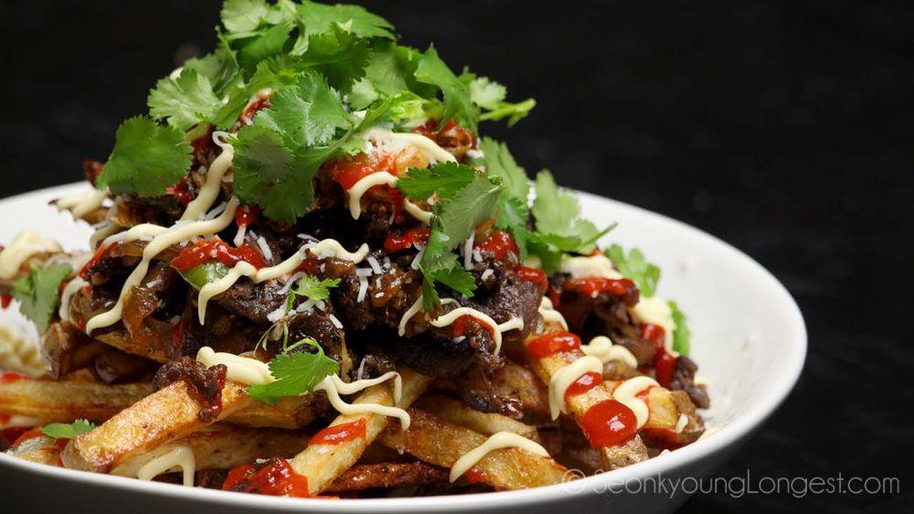 Bulgogi Kimchi Fries Recipe & Video - Seonkyoung Longest