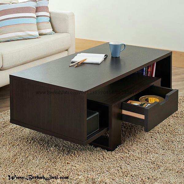 Meja Tamu Minimalis Desain Modern Laci Meja Ruang Tamu
