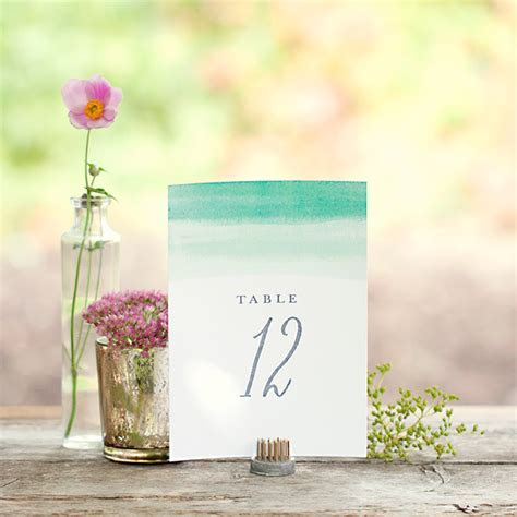 Wedding Printables: Color Wash Table Numbers   Evermine Blog