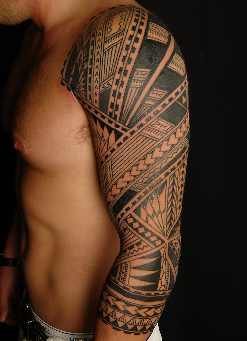 Men Arm Sleeve Tribal Tattoo Tattoomagz