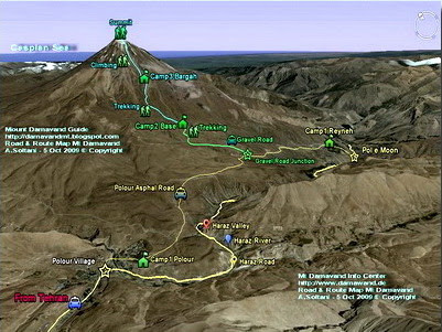 Mount Damavand Map