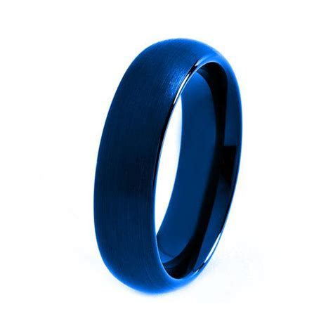 Blue Tungsten Ring Red Men Tungsten Rings Red by