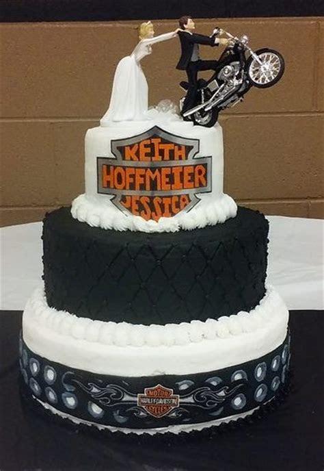 3 tiered Harley Davidson wedding cake, all buttercream