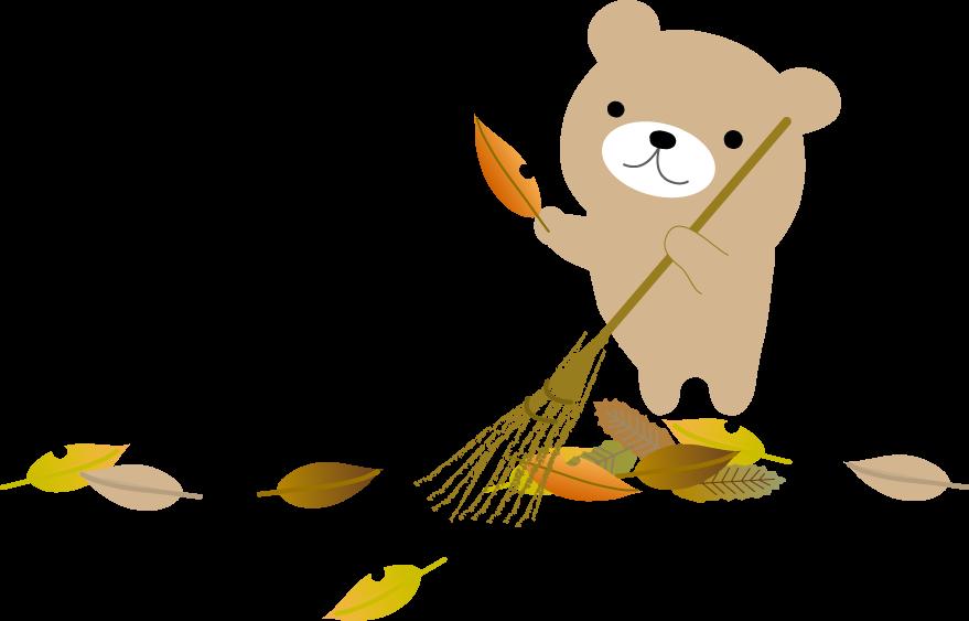 秋冬のイラスト 落ち葉 無料イラスト フリー素材