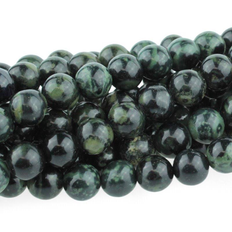 s22024 Stone Beads - 6 mm Round - Kambaba Jasper (strand)