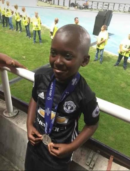 Man United Coach Jose Mourinho Gives His UEFA Super Cup Medal To A Nigerian Kid Named Deji