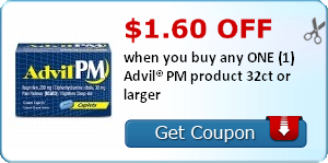 $1.60 off when you buy any ONE (1) Advil® PM product 32ct or larger