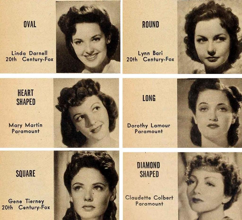 Vintage 194039s Beauty Secrets Hair And Face Contour Glamourdaze