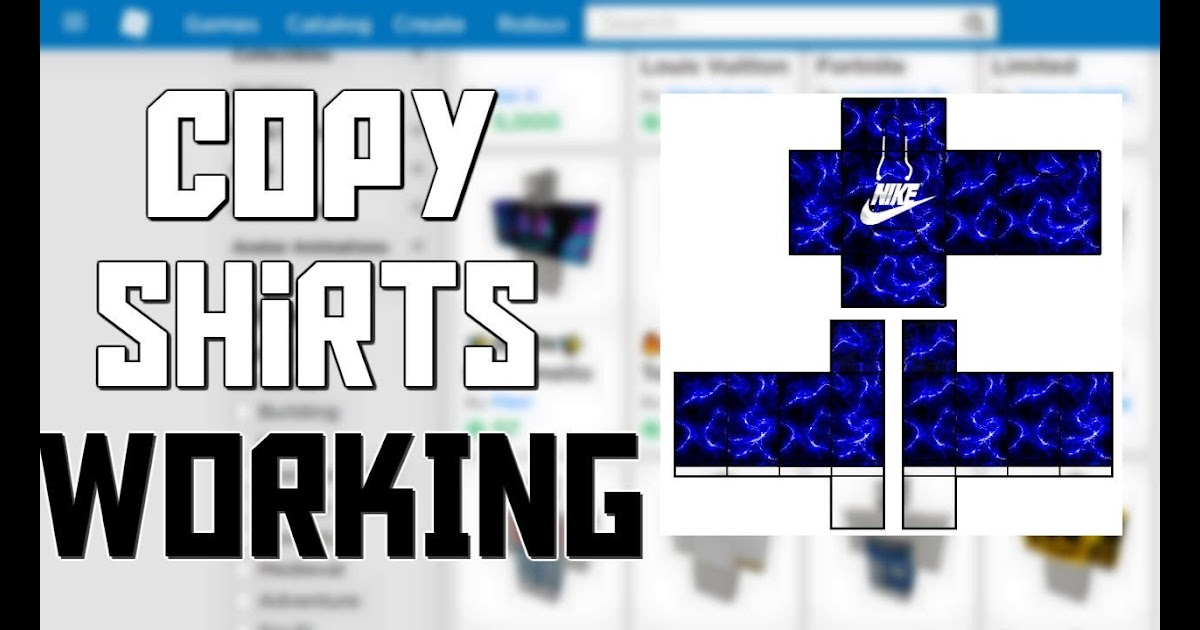 How To Copy Shirts On Roblox It Still Works - Buy Robux ...