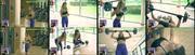 Catarina Gouveia sensual a fazer ginástica
