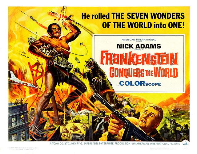 Reynold Brown - Frankenstein Conquers the World (American International, 1966) half sheet