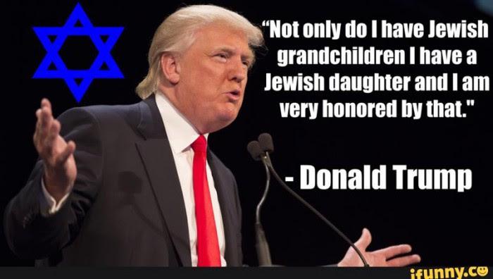Risultati immagini per donald trump e la questione ebraica