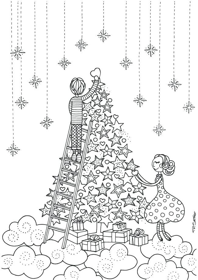 Christmas Coloring Pages For Adults Pdf at GetColorings ...