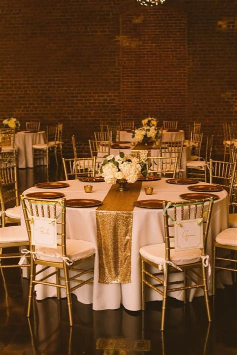 Gold Sequin Table Runners Tablecloth   C&J Wedding