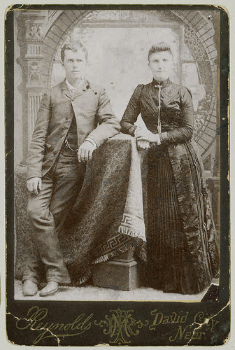 Cabinet Card Portrait pair