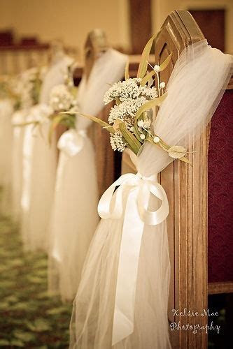 Easy and Inexpensive Idea Instead of Wedding Pew Bows
