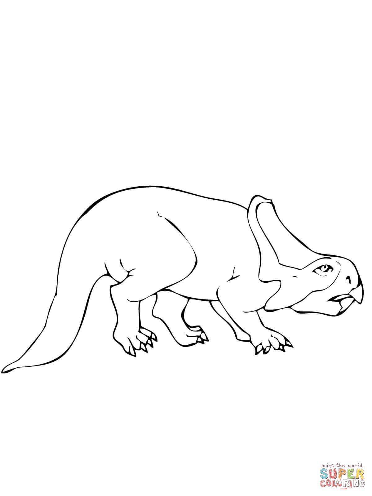 er sur la Protocératops dinosaure du Crétacé coloriages