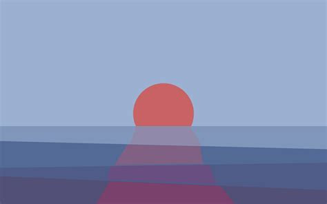 sunset abstract minimalism wallpapers hd desktop