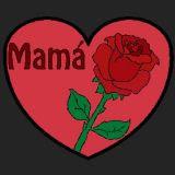 Dibujo Dia De La Madre Una Rosa Y Un Corazon Dibujos De Dia De La