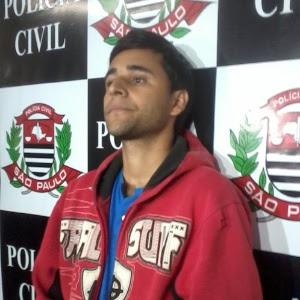 """Leonardo Guicharde da Silva, 25, foi apresentado como responsável pela morte de ex-dançarina do extinto programa de TV """"Clube do Bolinha"""""""