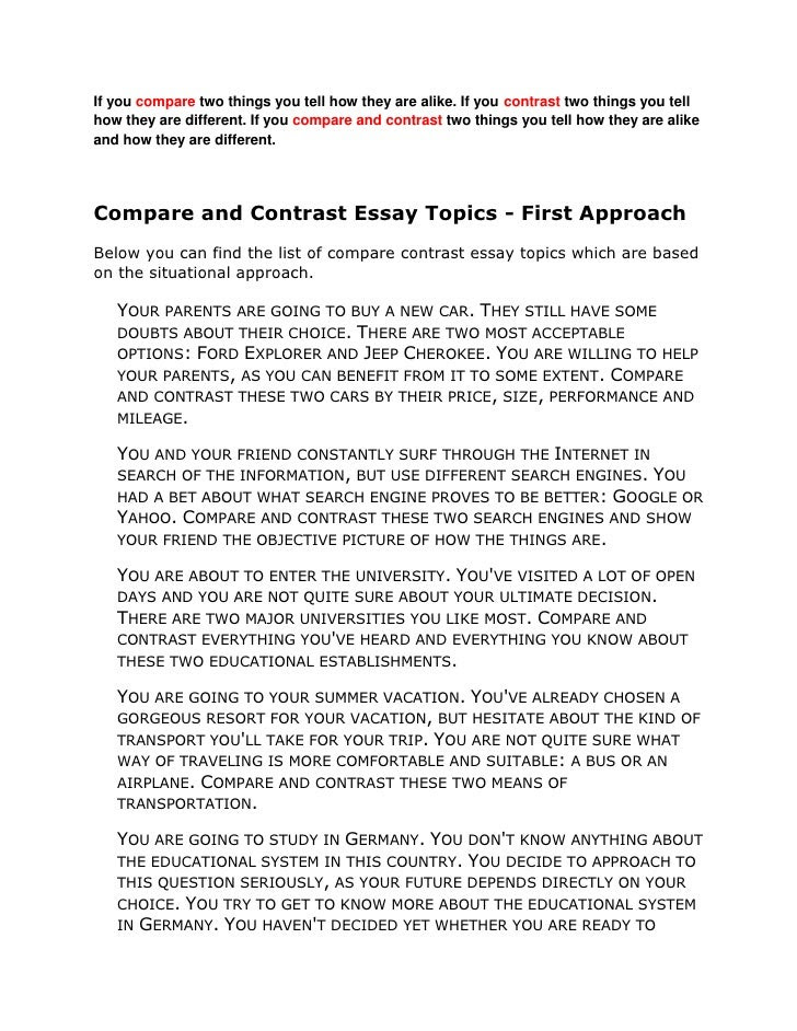 how to write a compare and contrast essay leadership