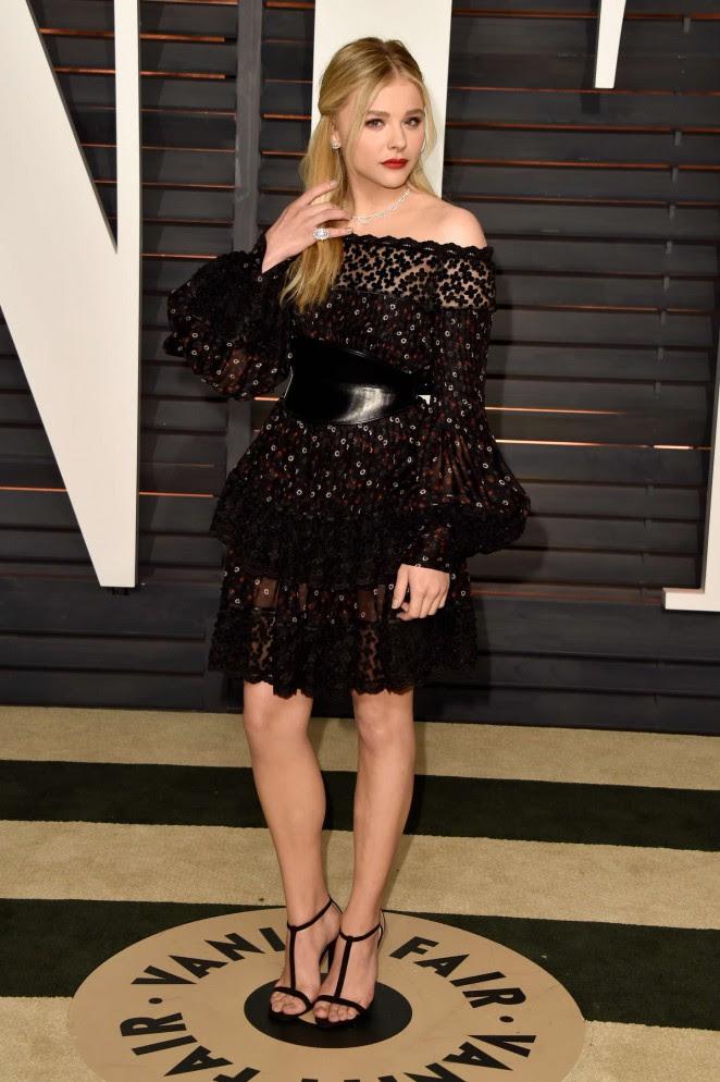 Chloe Moretz: 2015 Vanity Fair Oscar Party -01