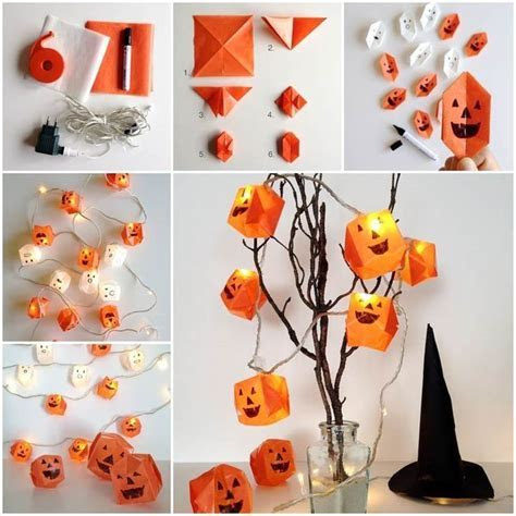 DIY Origami Pumpkin Lights Pictures, Photos, and Images