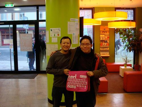With Singaporean filmmaker Michael Kam