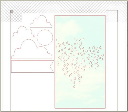 rainy sky & clouds - free Silhouette cut file