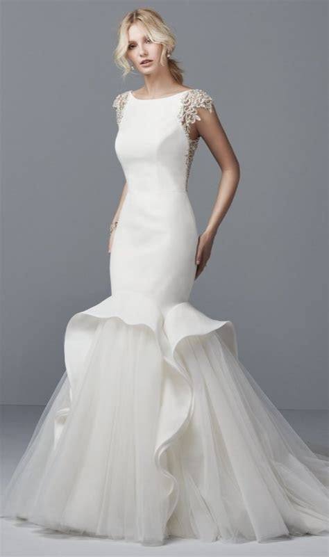 Alluring yet sophisticated, this Shavon Organza wedding