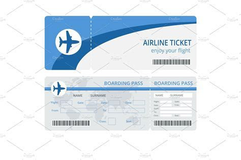 Plane ticket design ~ Illustrations ~ Creative Market