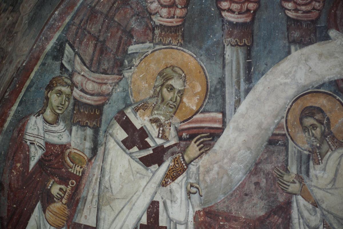 Рукоположење Св. Никола за Епископа Мирликијског (Мира у Ликији)   Архијереји рукополажу Св. Николу