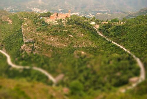 Windy road in Montserrat