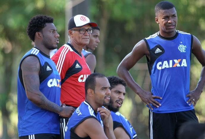 Jayme de Almeida, Alecsandro treino Flamengo (Foto: Marcio Mercante / Agência Estado)