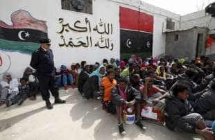 MIGRANTI IN LIBIA CAMPI