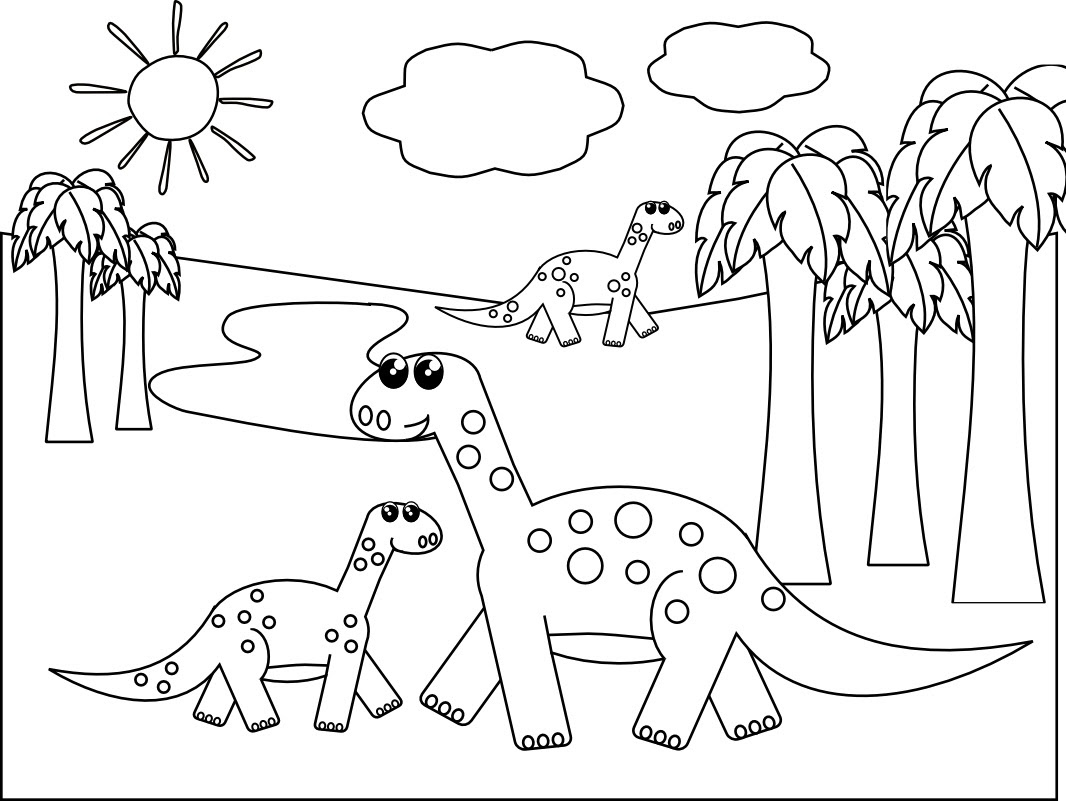 740 Print Coloring Pages Dinosaurs Pictures