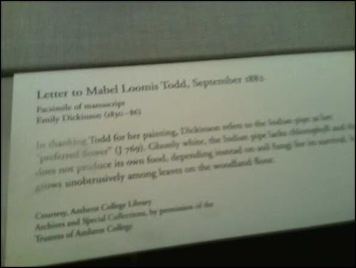 New York Botanical Garden - Emily Dickinson Garden - letter to mabel loomis todd sign