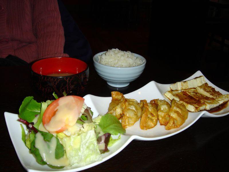 Lunch Special w/Gyoza and Ginger Teriyaki Tofu