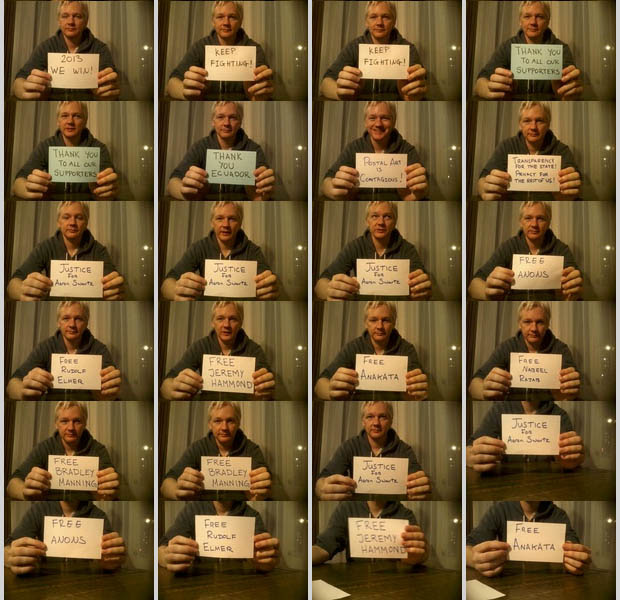 Parcel Camera Captures Photos of Julian Assanges Life in Hiding julianassange 8